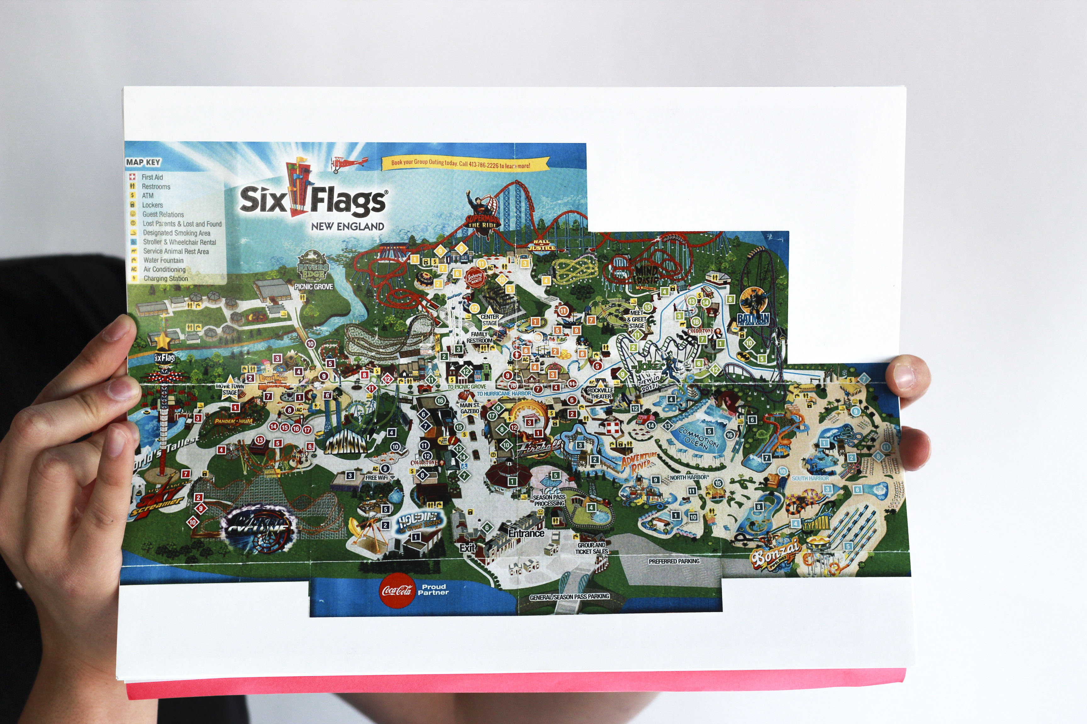 Six Flags New England Park Map